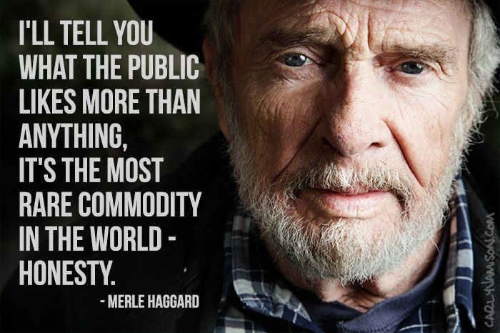 Duly Quoted Merle Haggard Country music quotes, Merle