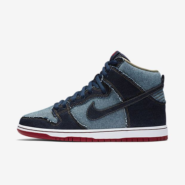 competitive price 37424 035b1 Nike SB Dunk High OG Reese Denim Mens Skateboarding Shoe