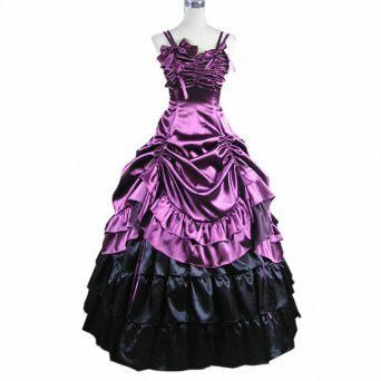Wholesale Prom Dresses - Buy Sleeveless Satin Party Gown Gothic Victorian Ruffles Prom Lolita Dress, $107.81 | DHgate