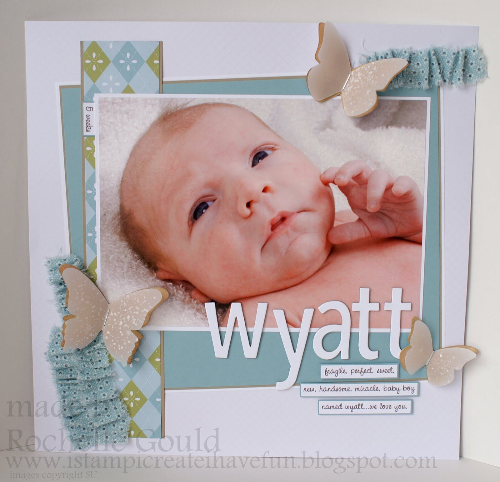 Baby+Boy+Scrapbook+Ideas | ... create, I have fun!: Non-Winning Artisan Award- Baby Wyatt Page
