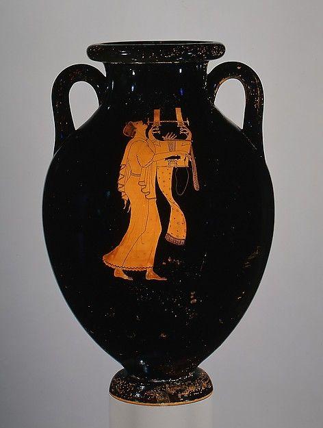 Terracotta Amphora Jar Amphora Ca 490 B C Classical Red