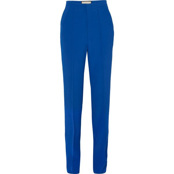 Pantalon Jambe Droite Crêpe - Gucci Bleu PoVF19JvM
