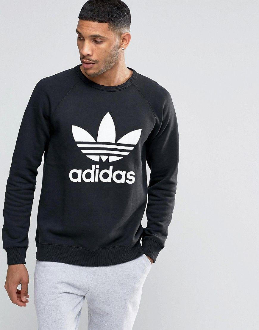 Adidas Originals Trefoil Crew Sweatshirt Ay7791 At Asos Com Mens Sweatshirts Hoodie Sweatshirts Crew Sweatshirts [ 1110 x 870 Pixel ]