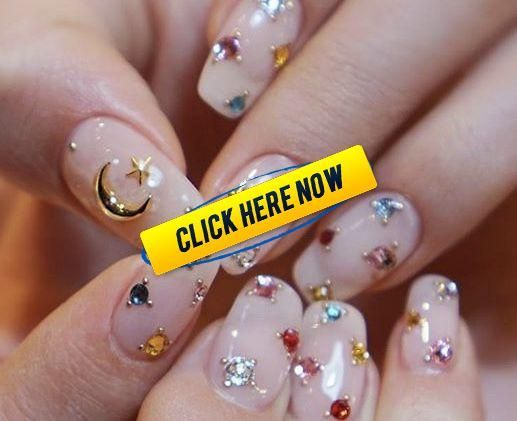 Korean Nail Art  Sailor Moon Nails  Korean Nail Art  Sailor Moon Nails #koreannailart Korean Nail Art  Sailor Moon Nails  Korean Nail Art  Sailor Moon Nails #koreannailart