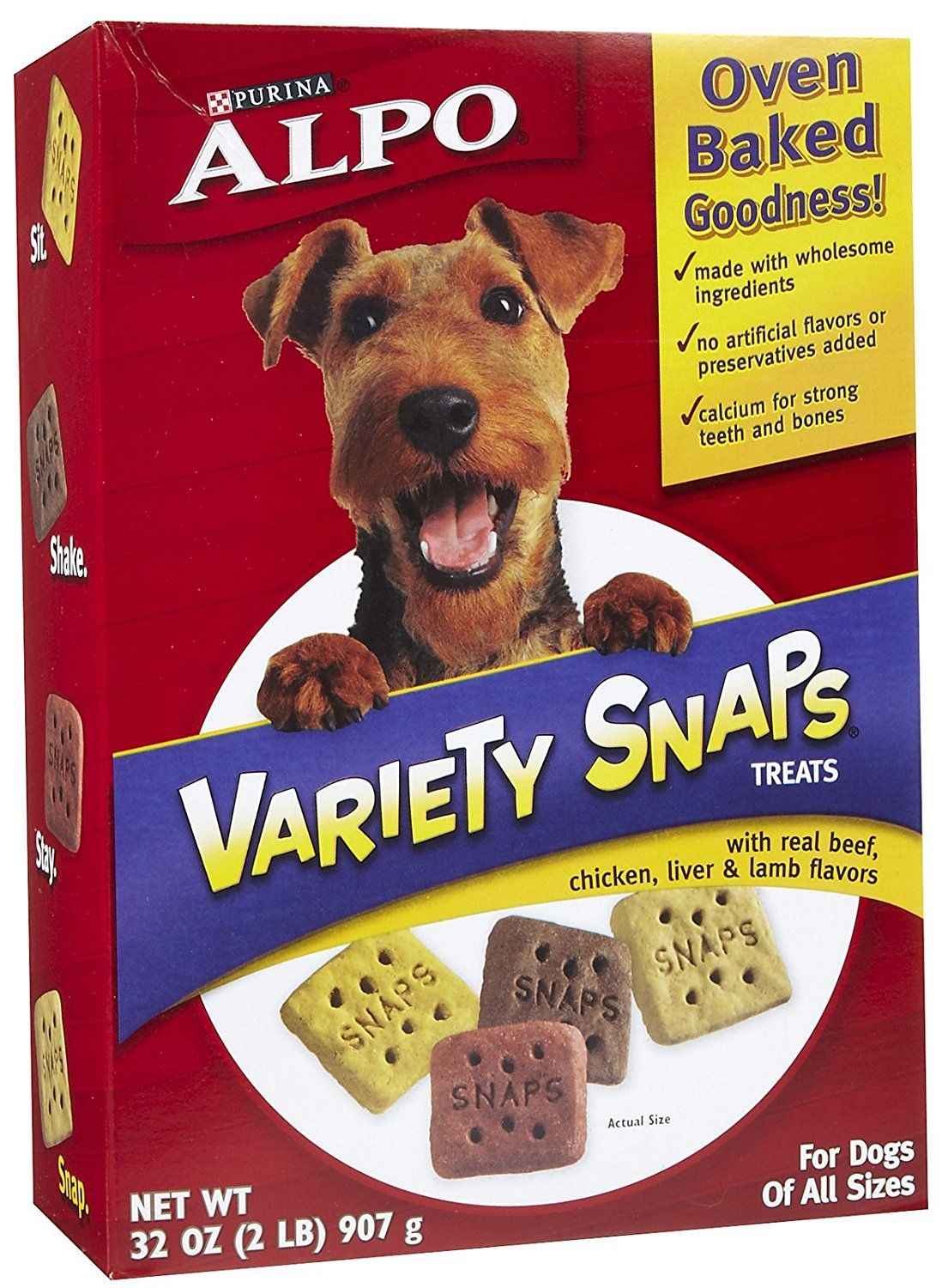 Alpo snaps treats with real meat variety pack 32 oz