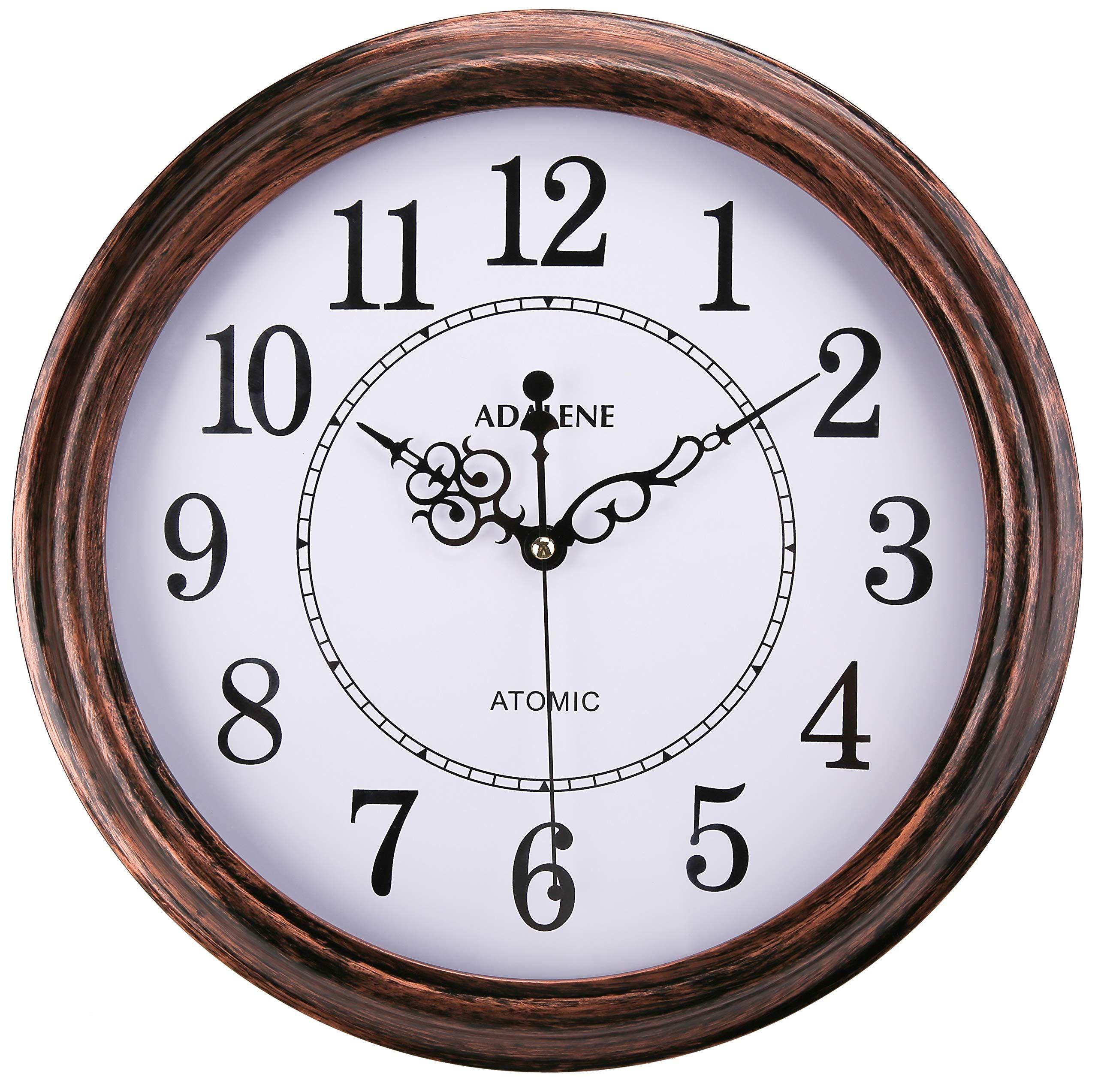 Adalene Atomic Wall Clocks Battery Operated Vintage Atomic Clock