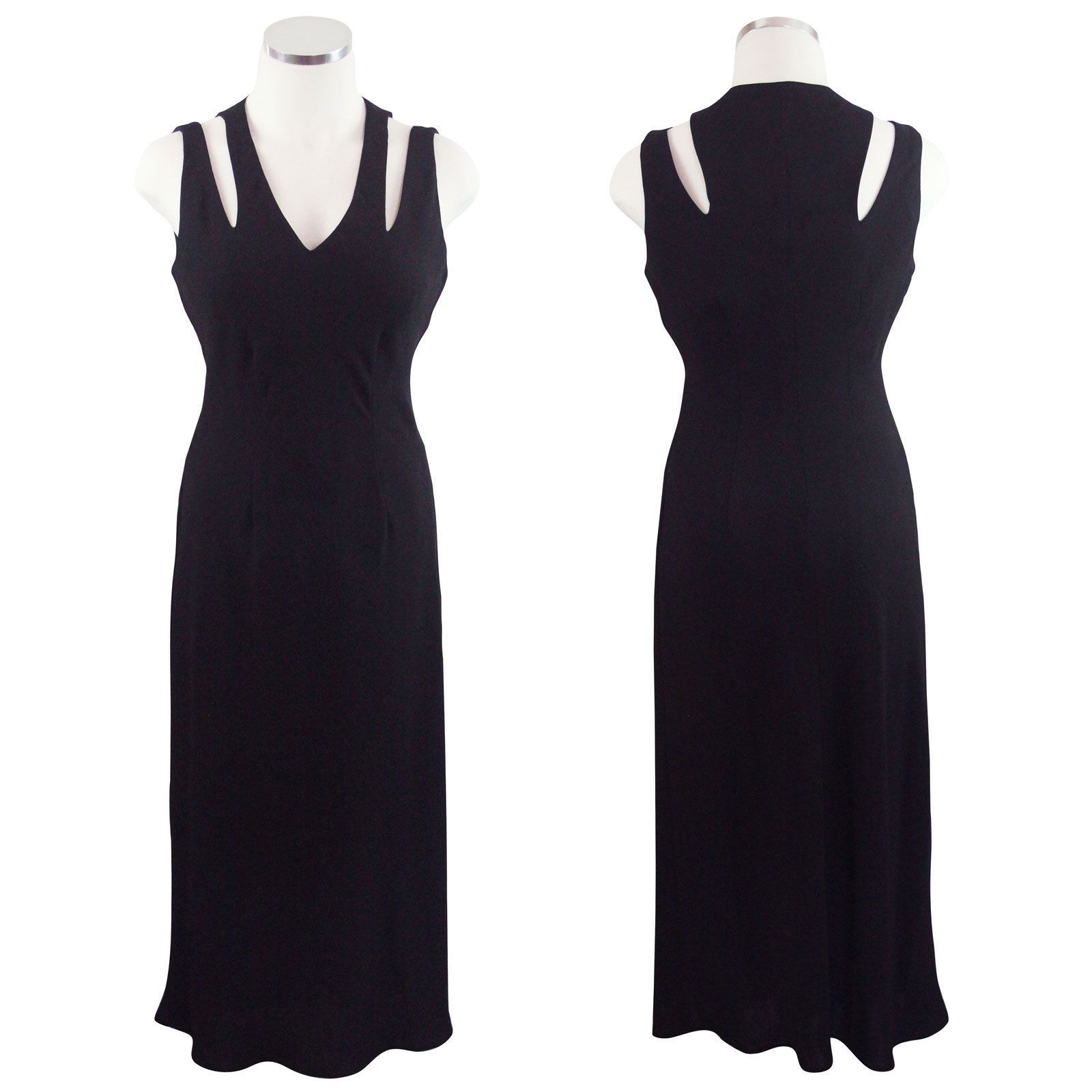 Nice amazing jones new york black strappy cut out long maxi evening