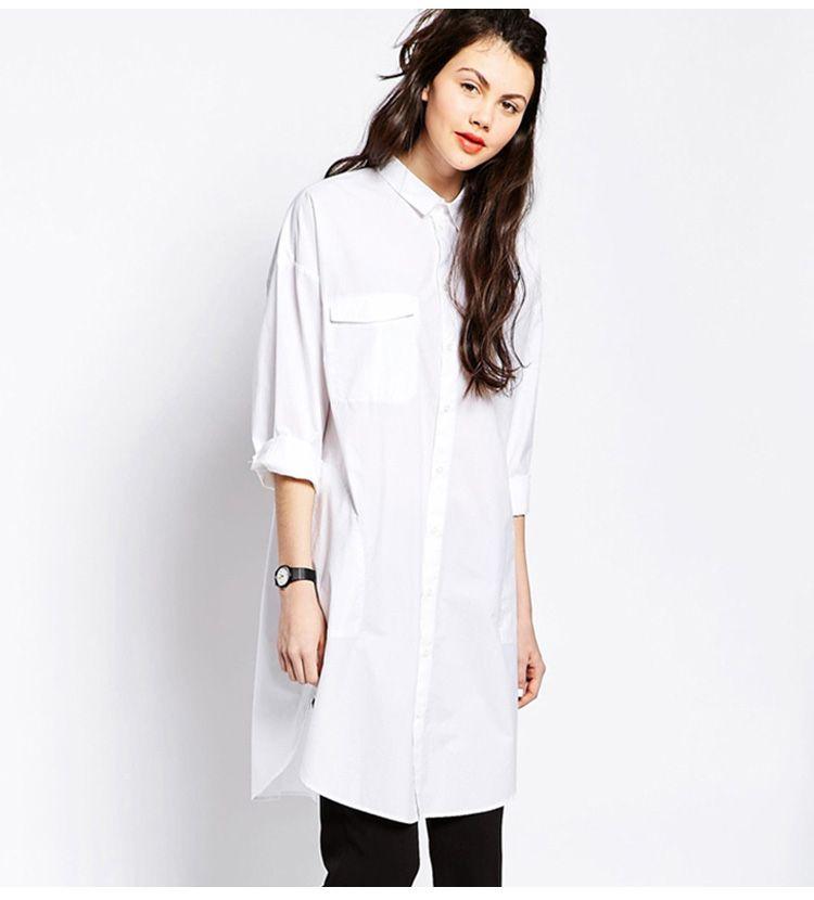 Simple Design Long White Shirts - Uniqistic.com