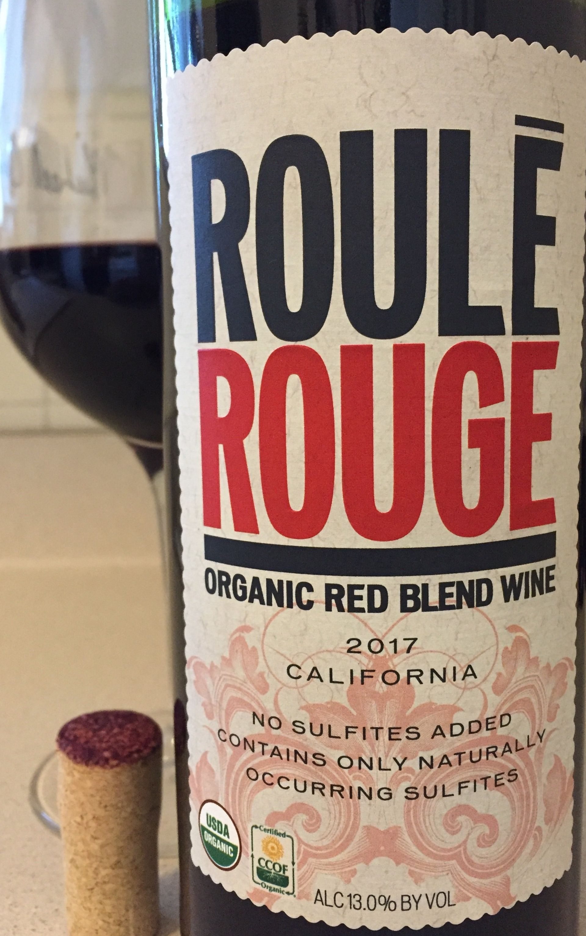 Roule Rouge 2017 Organic Red Blend Wine California No Sulfites Added Contains Only Naturally Occurring Sulfites Red Blend Wine Wine Organic