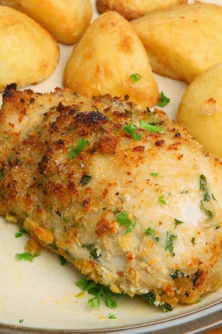 Baked Garlic Parmesan Chicken Recipe Food Network Recipes Food Recipes Baked Garlic