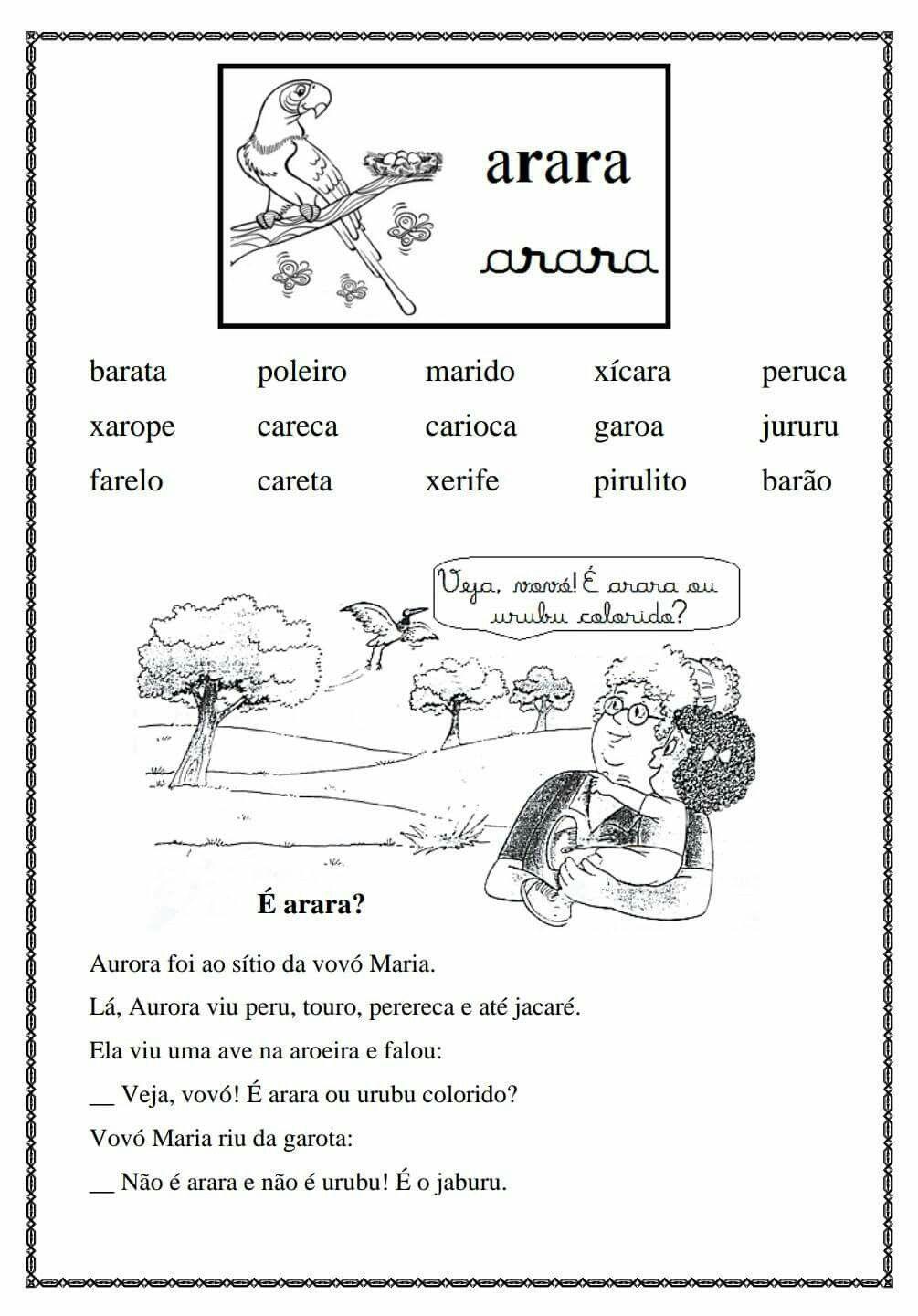 Pin De Silvana Em Fichas De Leitura Ensino Da Leitura