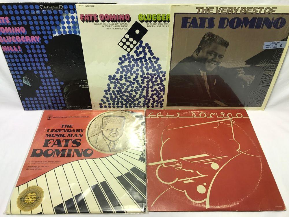 Fats Domino Lp Vinyl Record Lot The Legendary Music Man Blueberry Hill Vinyl Records Lp Vinyl Music