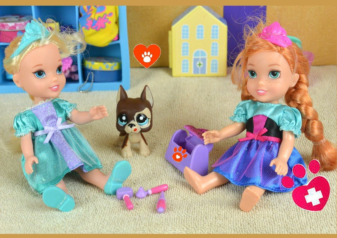 Elsa And Anna Puppy Sitting Rapunzel S Dog Gets Hurt Annya And