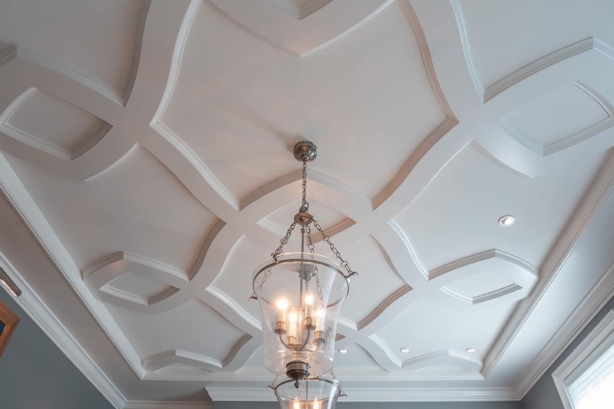 Shallow Beam Coffered Ceiling Kits Pattern Kit Bespoke B1 Faux Ceiling Beams Ceiling Trim Decorative Ceiling Tile