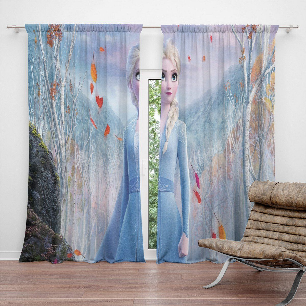 Frozen 2 New Blackout Curtains For Living Room In 2020 Curtains Curtains Living Room Blackout Curtains