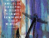 """Anchored In Happily Ever After, Two.  8"""" x 10"""" Marriage Anchor Quote Fusion Paintographic Fine Art Print by Brandi Fitzgerald. $20.00, via Etsy."""