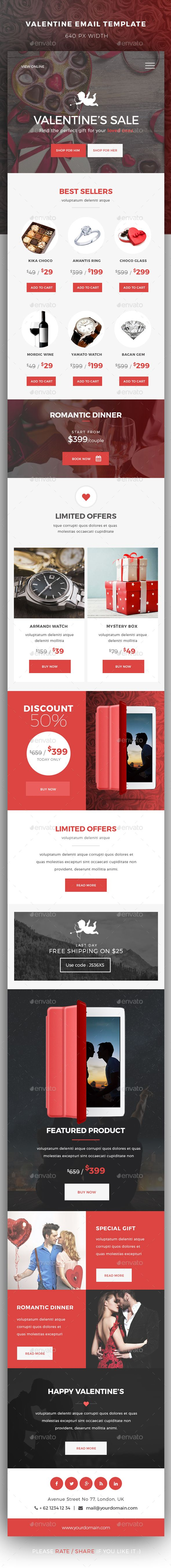 Valentine Newsletter Email Template Pinterest Template