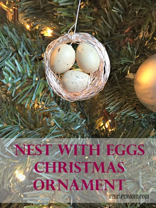 Nest With Eggs Christmas Ornament Easy Diy Crafts Christmas