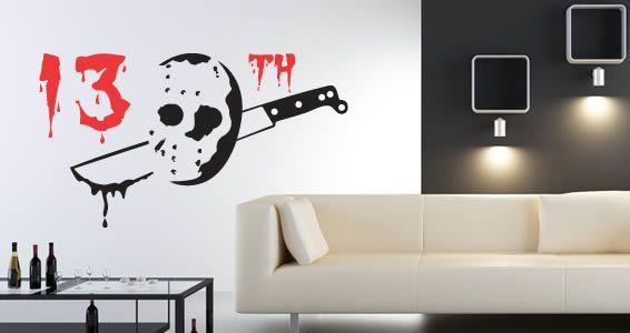 13th haloween wall tattoo