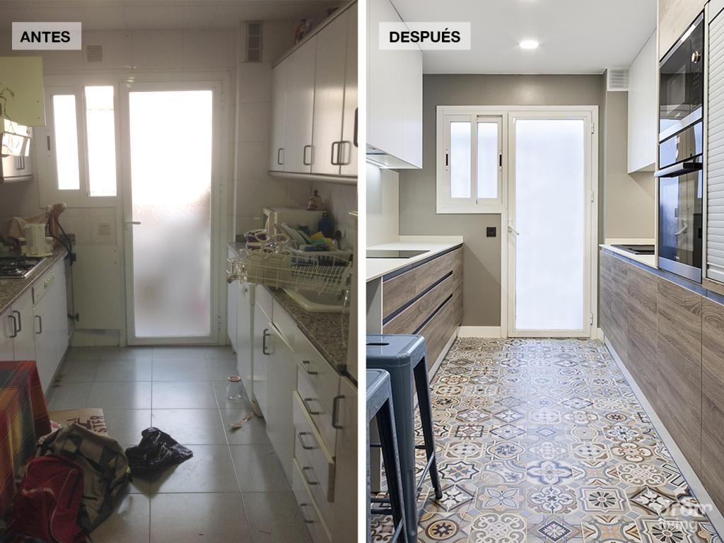 El Antes Y El Despu S De Un Piso Al Completo Decoraci N Cocinas  ~ Reformas De Casas Antiguas Antes Y Despues