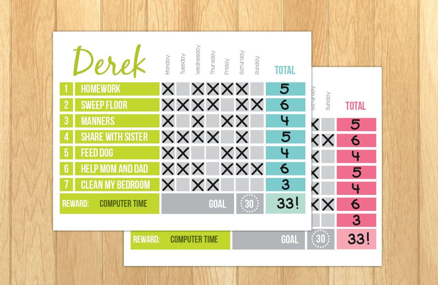 Printable Reward Chart  Printable Chore Chart  Editable Pdf