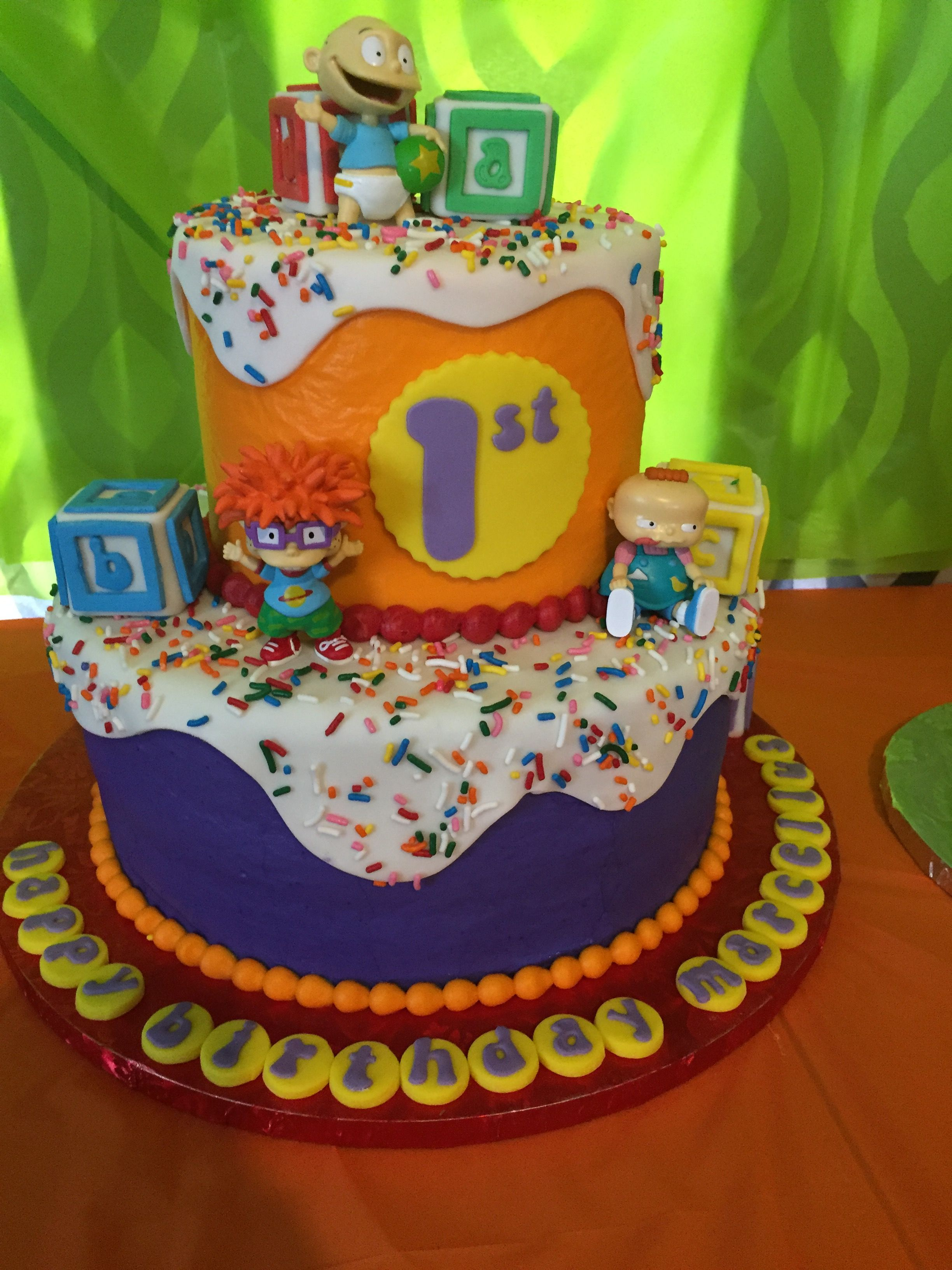 Rugrats Two Tiered Birthday Cake Cellys First Birthday