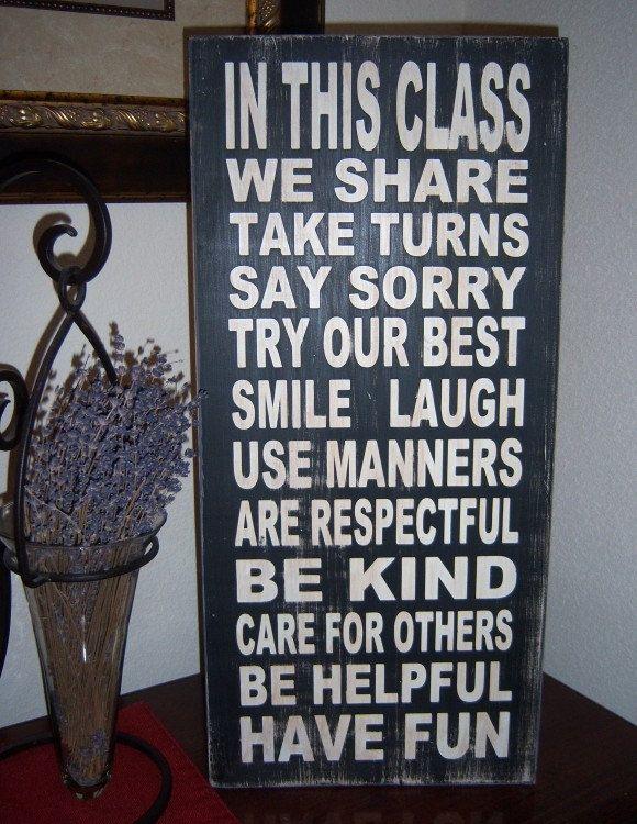 Classroom Rules -I must design a UL version!