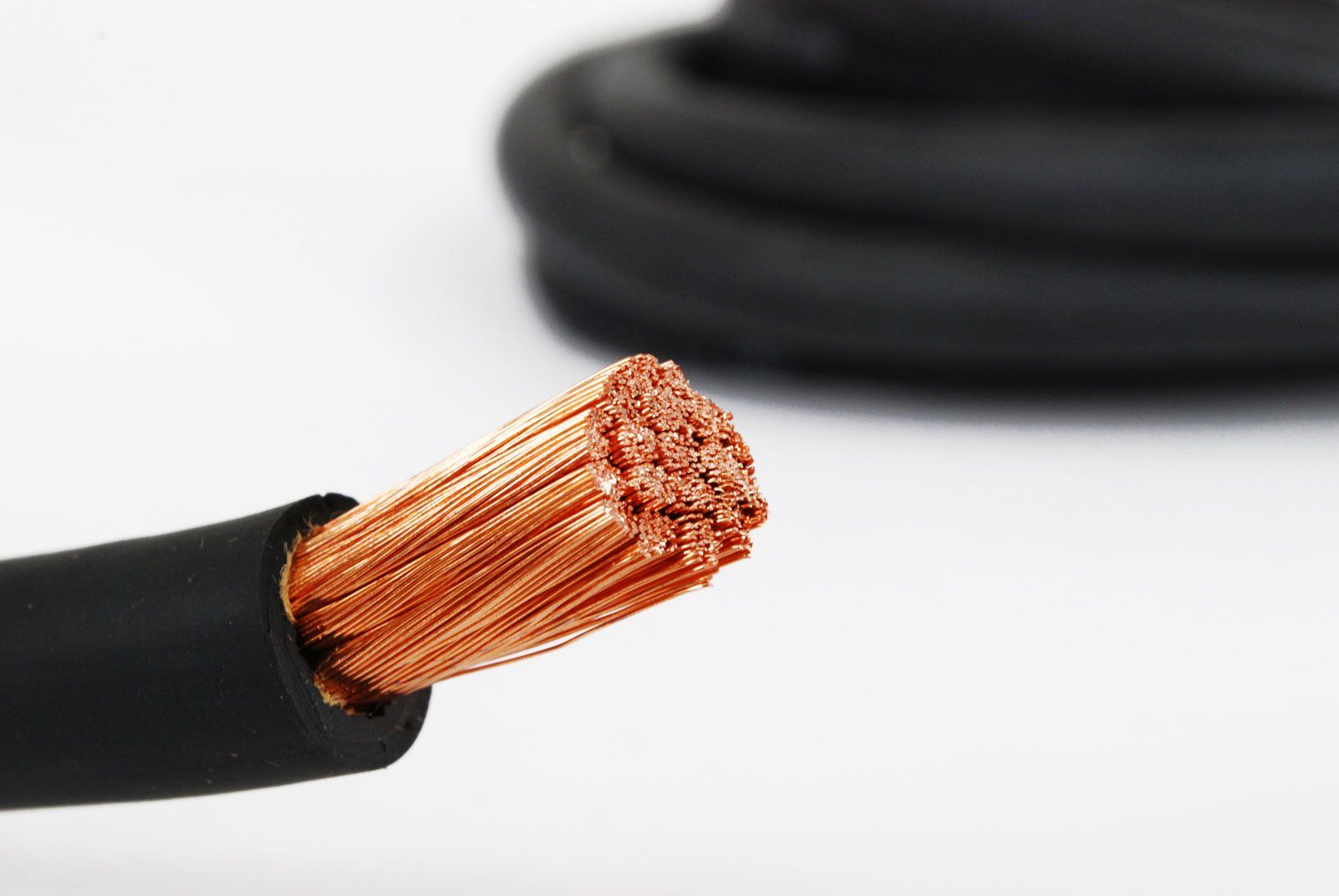 50/' FT 8 AWG GAUGE WELDING /& BATTERY CABLE BLACK USA COPPER