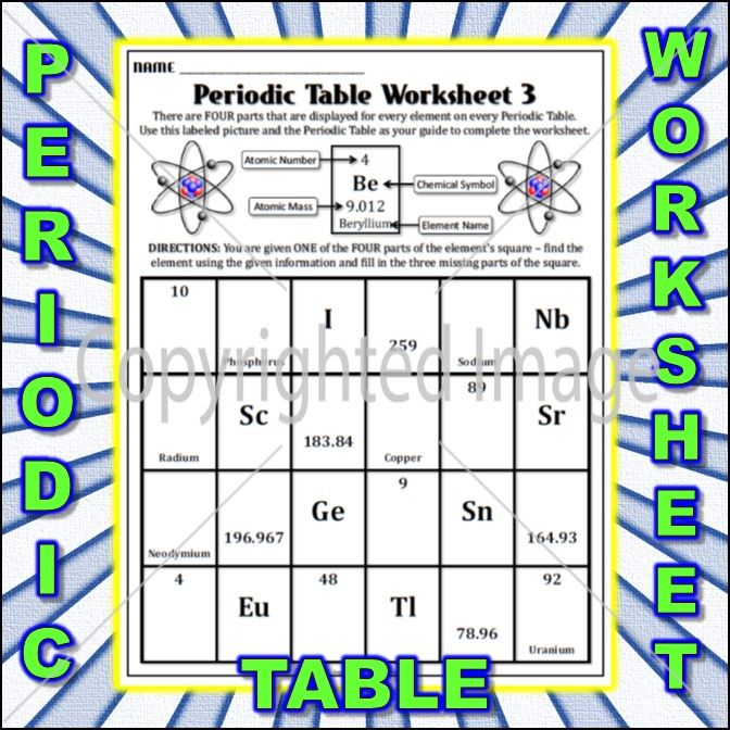 Worksheet Periodic Table Worksheet 3 Periodic table, Worksheets - best of periodic table of elements and their uses pdf