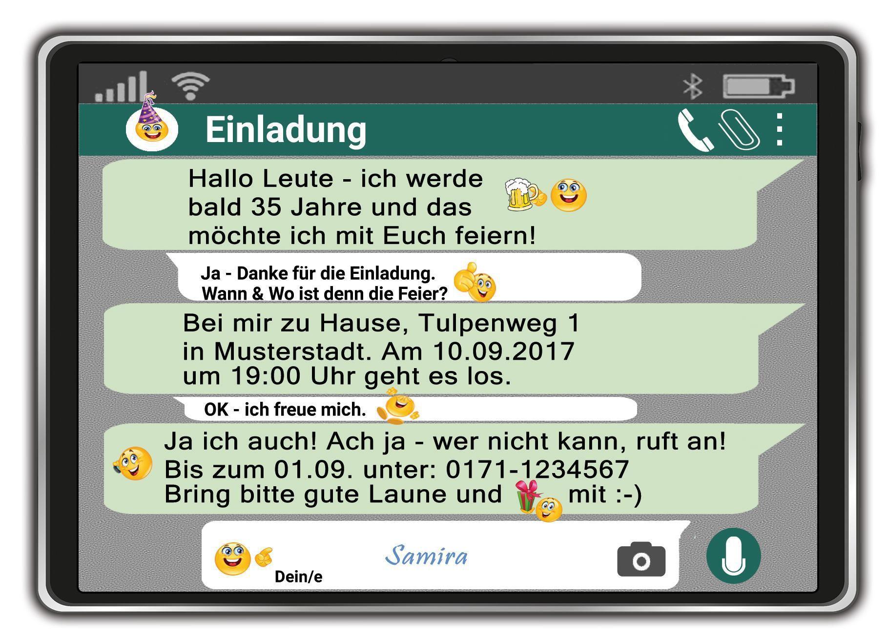 Geburtstagseinladung Whatsapp Kostenlos | Geburtstagseinladungen ...