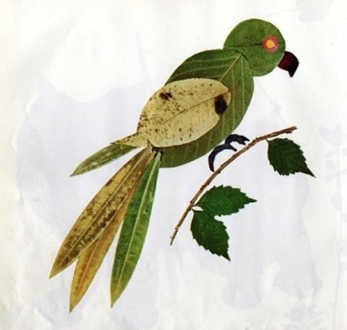 Manualidades otoñales, creaciones con hojas reciclado Pinterest