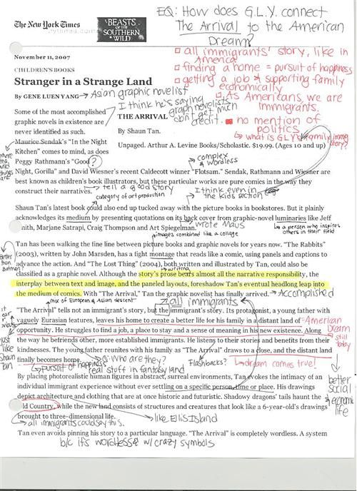 CloseReading Template close reading School Pinterest