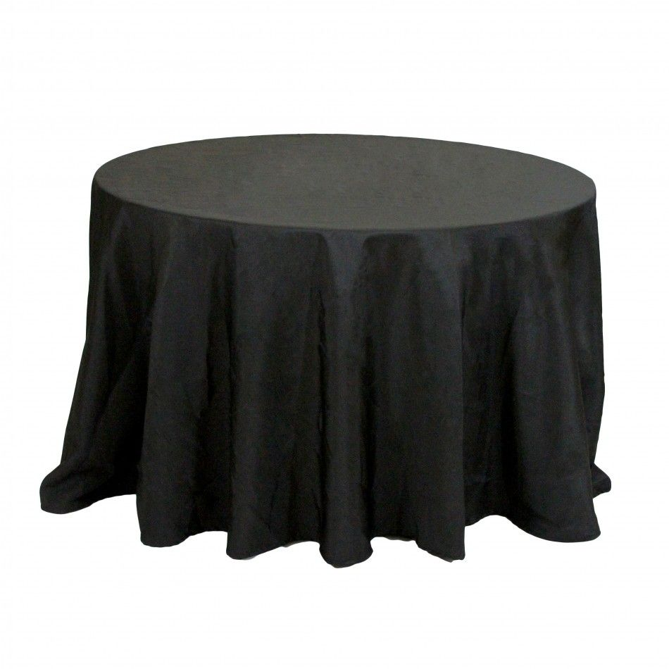 90 Round Table Linens - Black [EF Black 90 Round Table ...