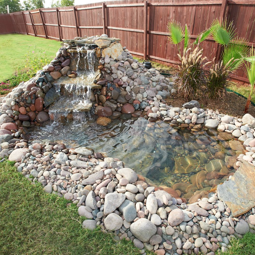 15 diy backyard pond ideas water features pond and for Backyard water feature plans