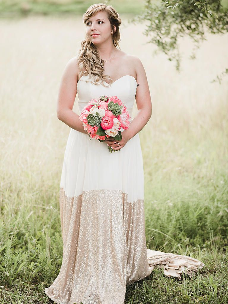 Gold sparkle wedding dress   Nontraditional Wedding Dress Ideas  Nontraditional wedding