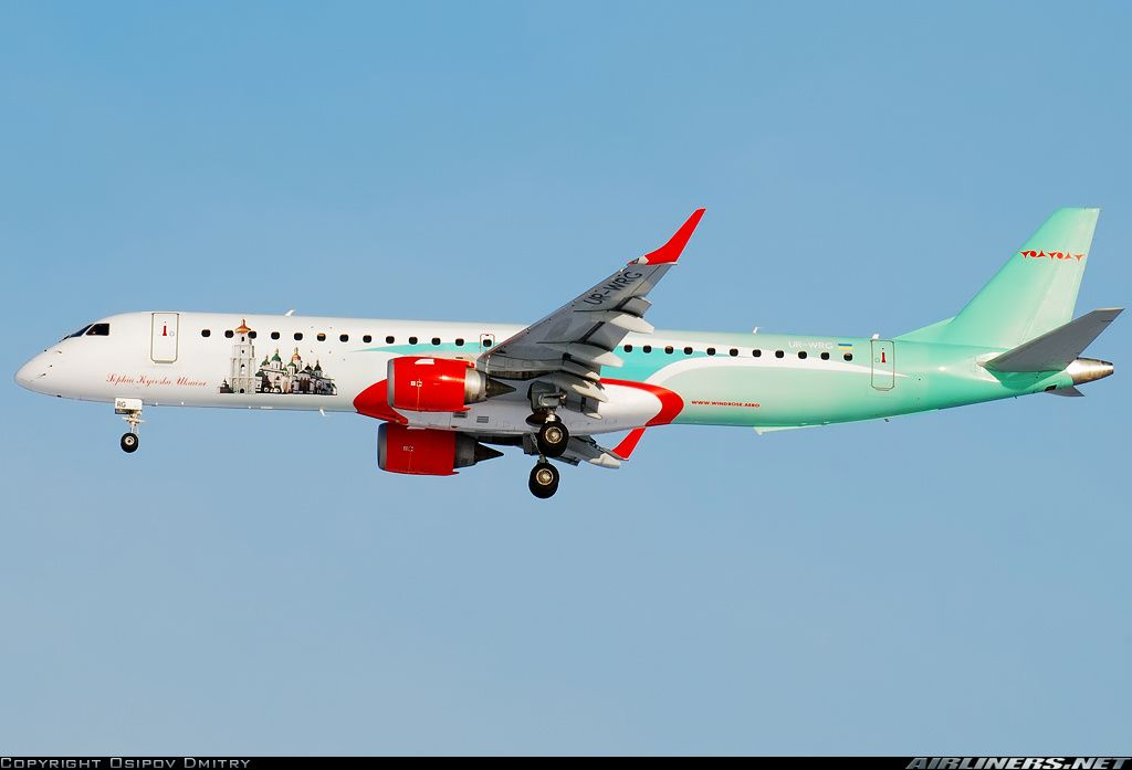 Embraer 195AR (ERJ-190-200IGW) - Wind Rose Aviation | Aviation Photo #2201551 | Airliners.net
