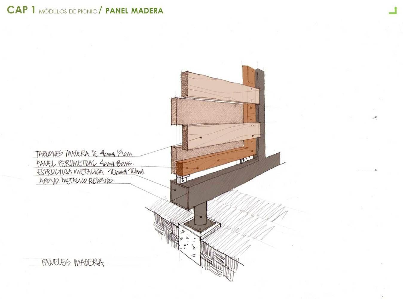 Galer a de mobiliario urbano para el parque arvi escala for Mobiliario urbano tipos