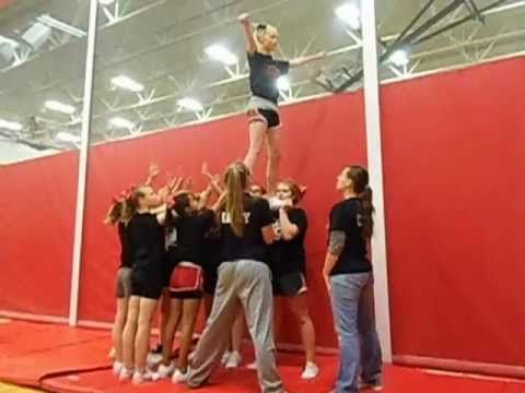 Dead Man Cheerleading Stunt #cheerleadingstunting