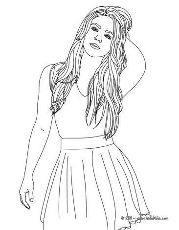 shakira coloring page more singer coloring pages on famous people coloring. Black Bedroom Furniture Sets. Home Design Ideas