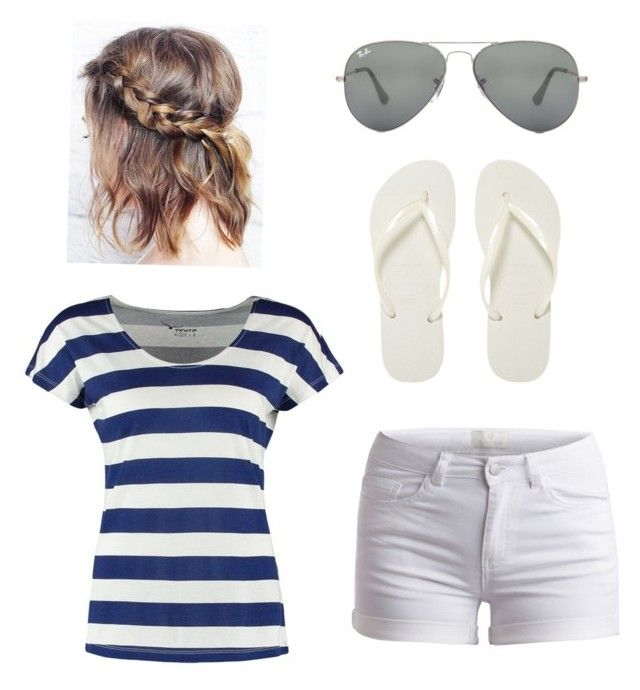 """Summer"" by modest-fashion1 ❤ liked on Polyvore featuring TWINTIP, Pieces, Ray-Ban and Havaianas"