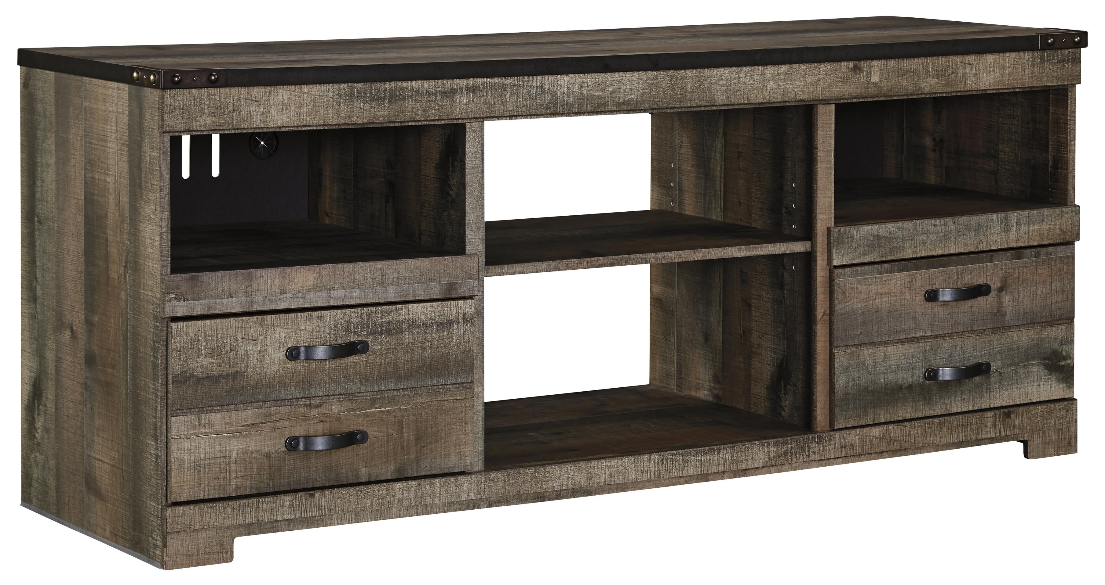 Trinell   Brown   LG TV Stand W/Fireplace Option W446 68