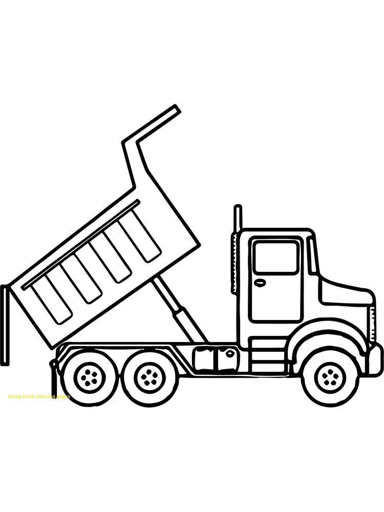 Dump Truck Coloring Pages Dump Truck Is A Tool Used To Move Excavated Material From The Quary Loc Truck Coloring Pages Coloring Pages Printable Coloring Pages