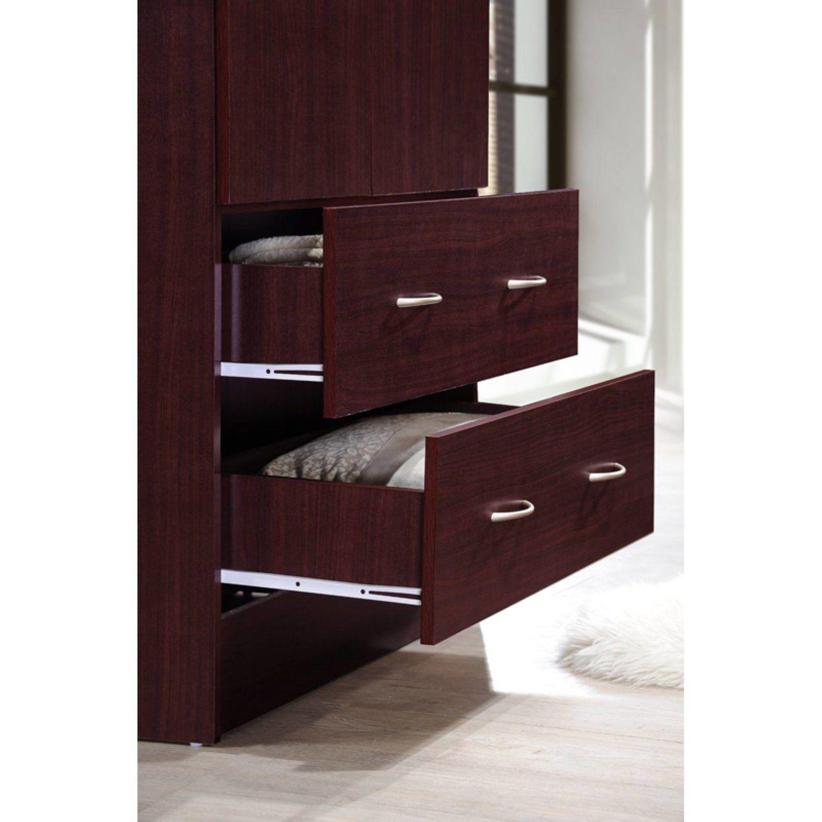 Tall Armoire Wardrobe Closet Storage Cabinet Bedroom ...