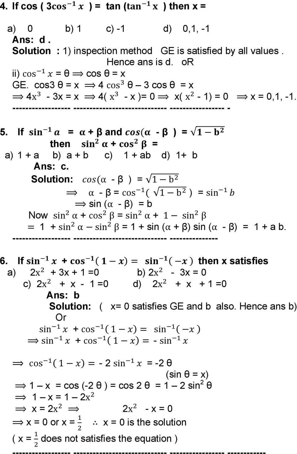 Trigonometry Worksheets With Answers Maths Worksheets Trigonometry Worksheets Trigonometry Math Worksheet