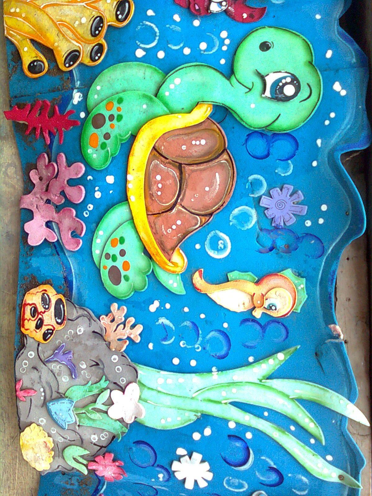 Mar tortuga fomi pinterest decoracion de mar for Decoracion habitacion bebe goma eva