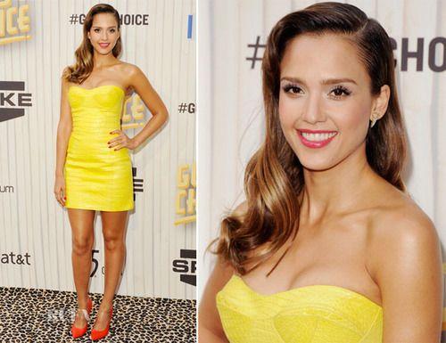 Jessica Alba in yellow
