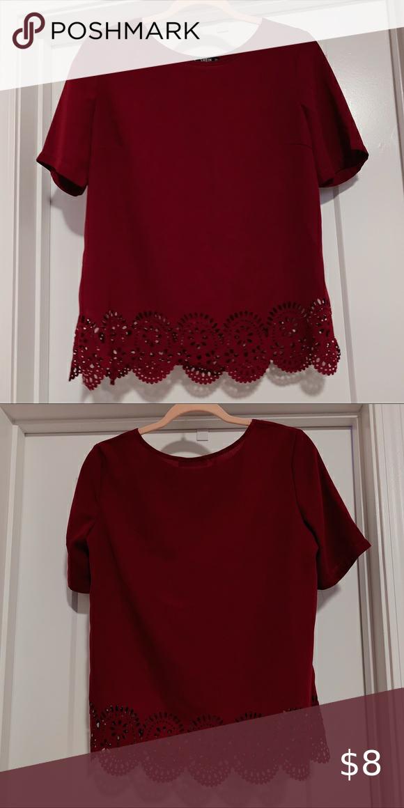 Shein burgundy blouse
