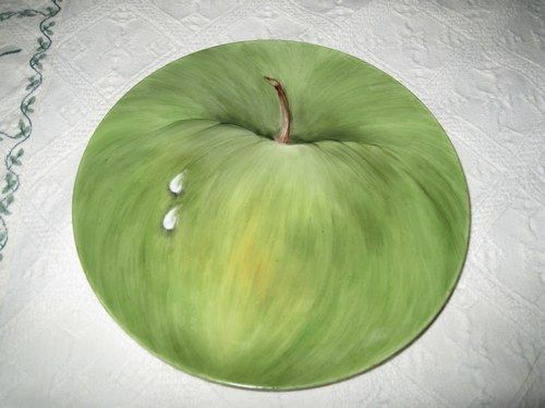Peinture sur porcelaine pomme verte p fruit legume for Peinture vert pomme
