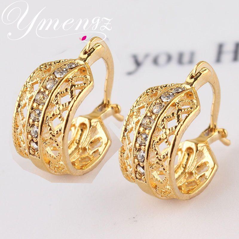 2014 Hot Selling Bladvorm Nieuwe Sieraden Vergulde Oostenrijkse Kristallen Oorbellen Voor Vrouwen Party Dagelijks Dragen Sieraden Accessoires