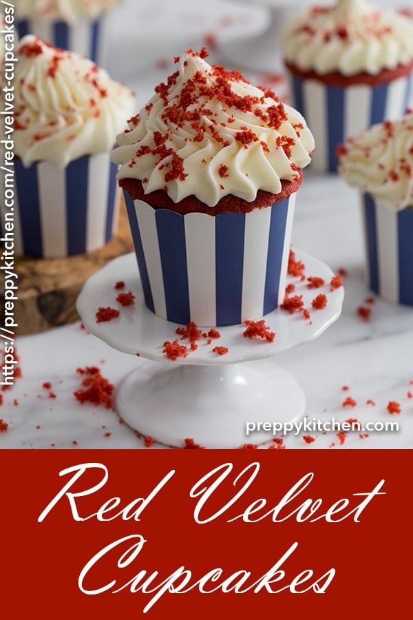 Red Velvet Cupcakes - Preppy Kitchen #redvelvetcheesecake